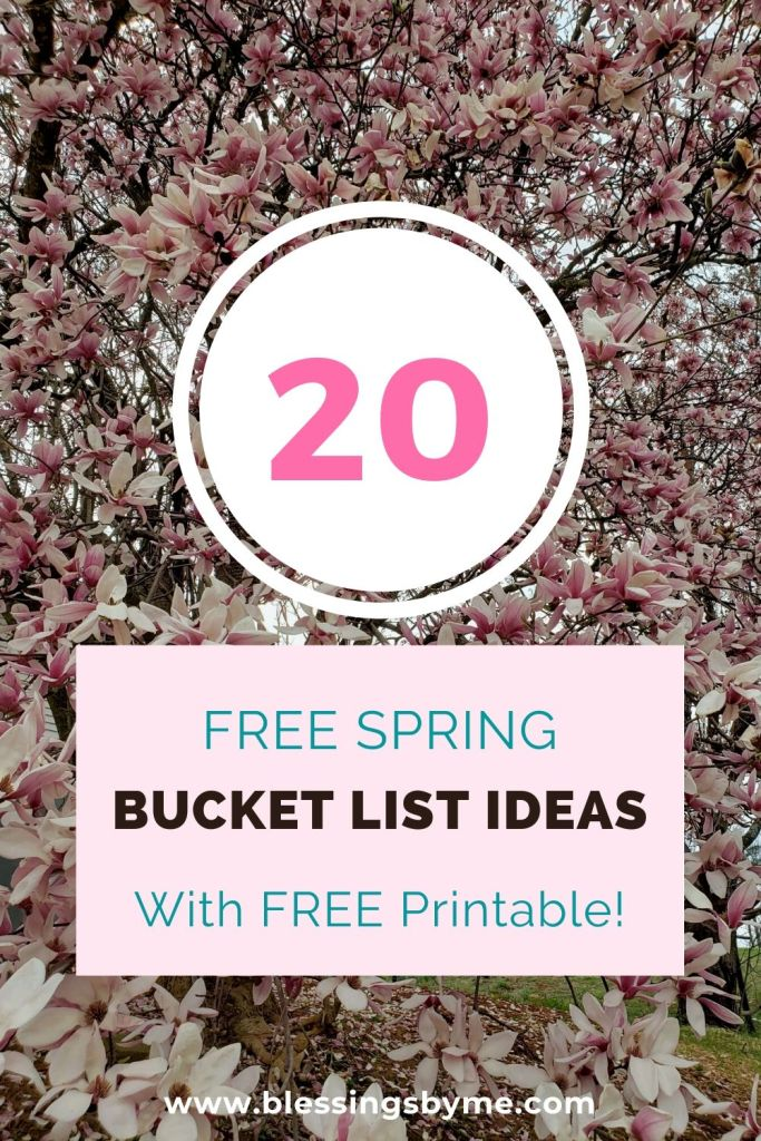 Spring bucket list ideas with printable