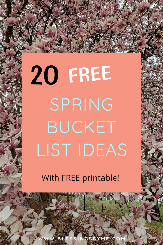20 Free Spring Bucket List Ideas