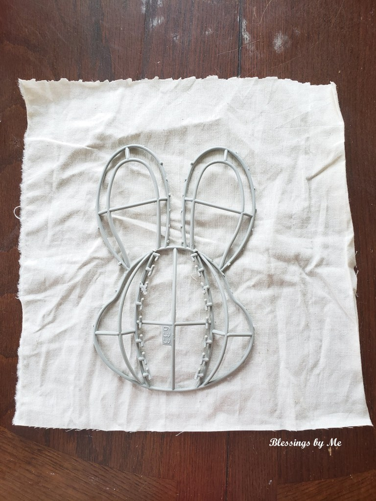 Step 4 - Trace the bunny onto the fabric
