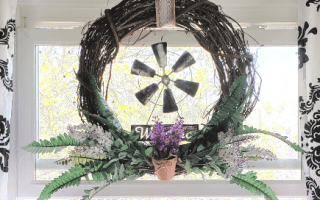 Grapevine Wreath for Spring