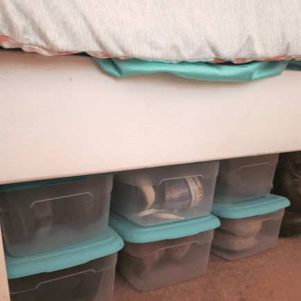 Maximize the storage space under your bed