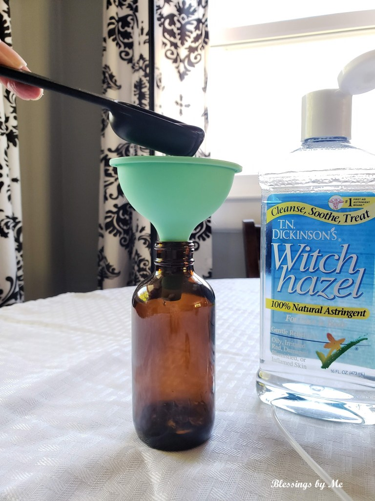 step 2 - add witch hazel