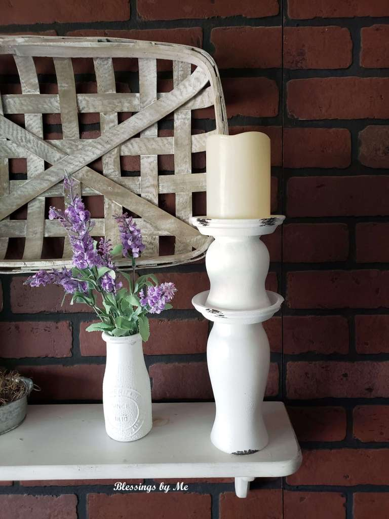 Kirkland's knockoff candle holder decorated