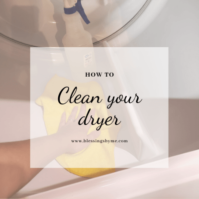 clean your dryer