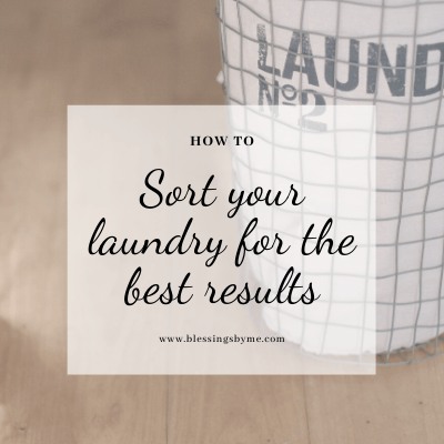 sorting your laundry