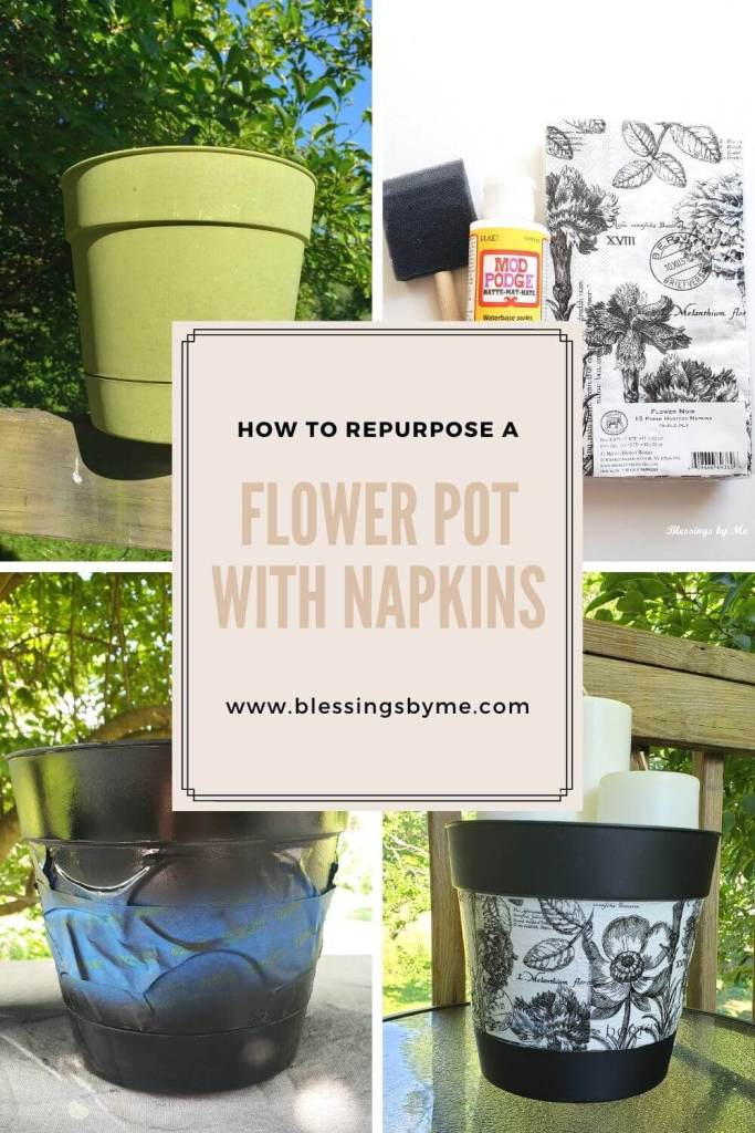 repurposed flower pot