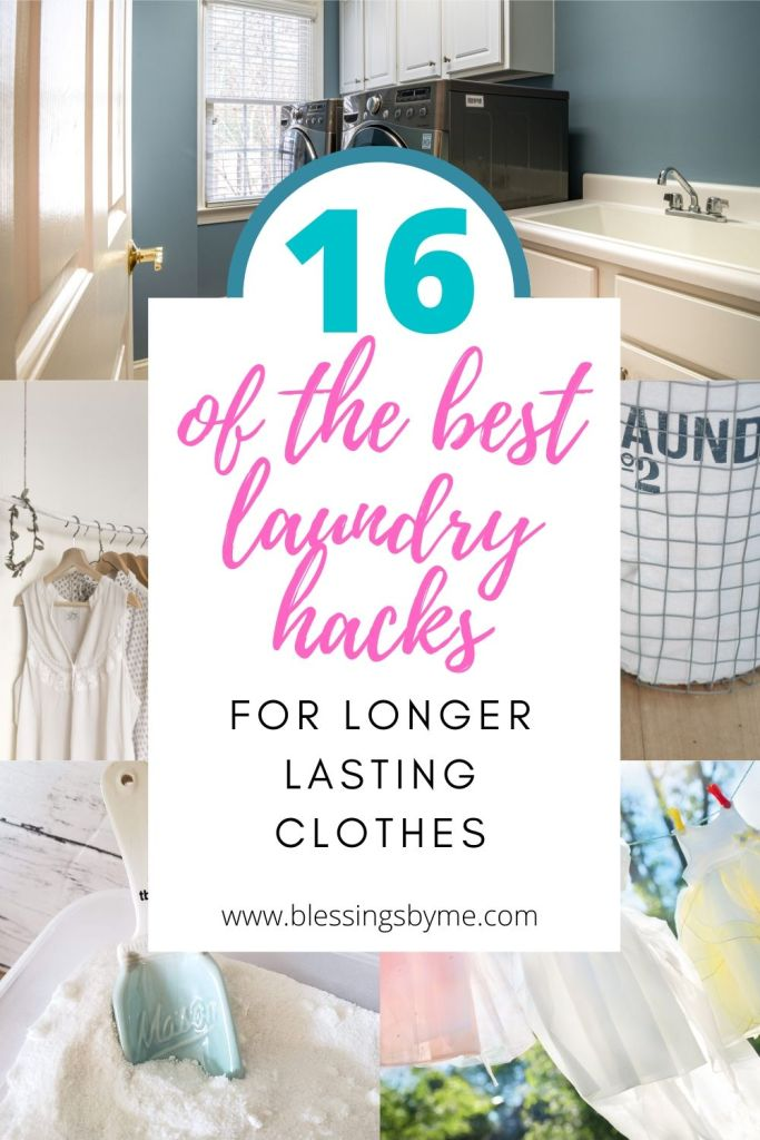 laundry hacks for longer lasting clothes