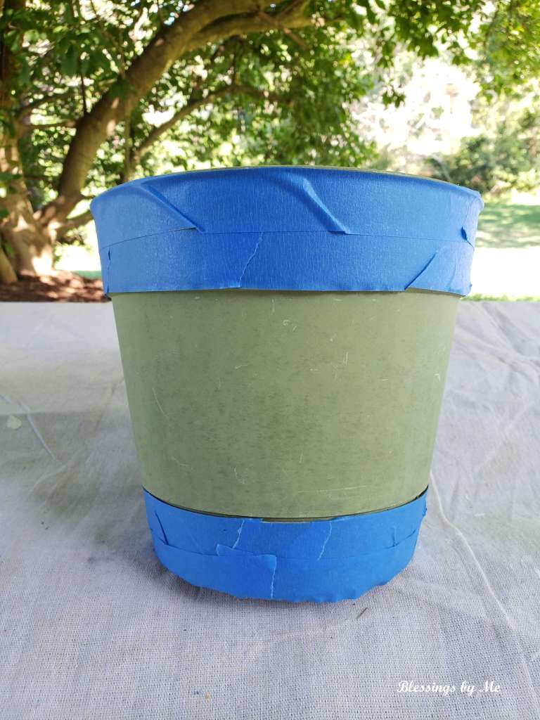 tape the top and bottom parts of the pot