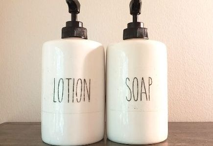 Rae Dunn Inspired DIY Soap & Lotion Dispensers