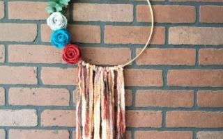 boho fall hoop wreath