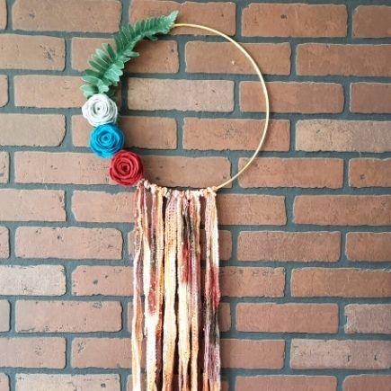 boho fall hoop wreath
