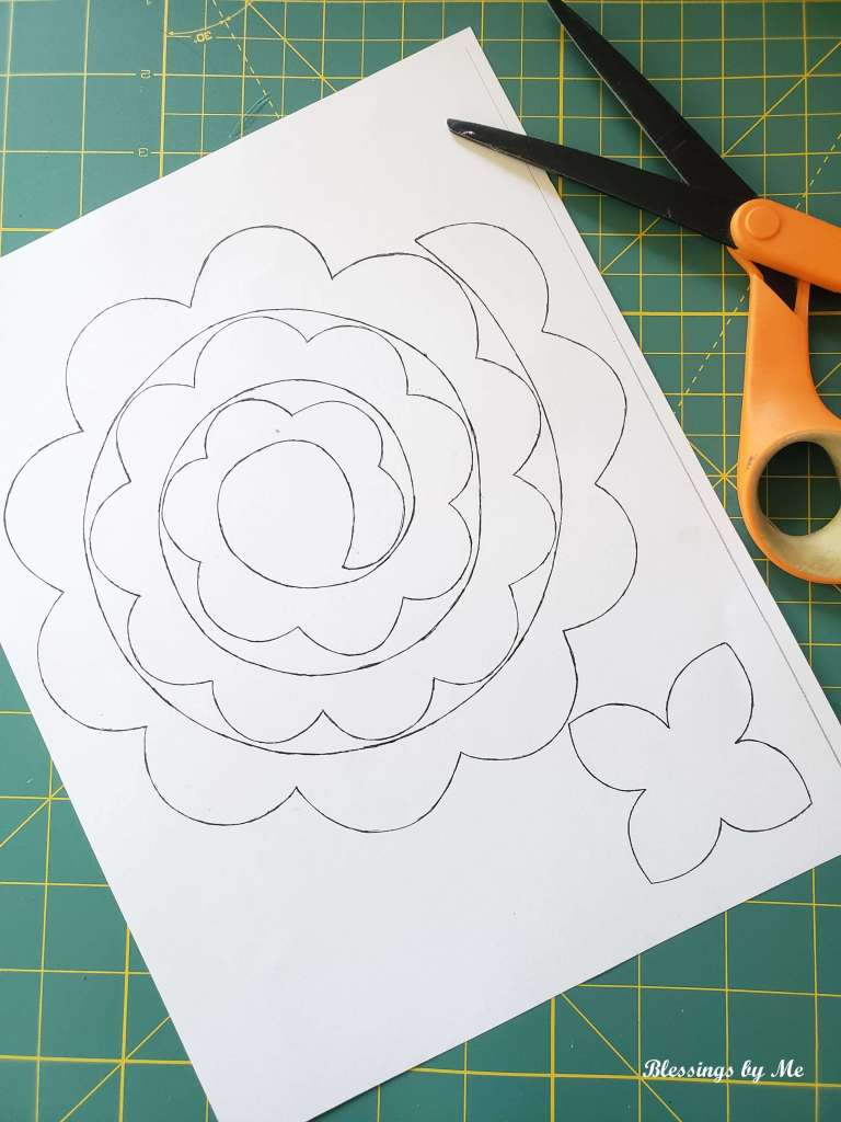 print out the flower pattern