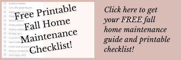 fall maintenance free printable checklist