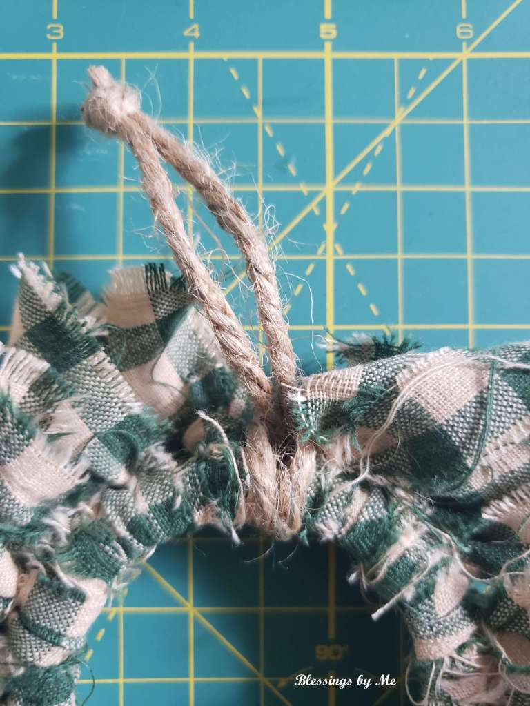 step 5 - add jute or ribbon for hanging