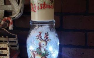 light-up reindeer vase