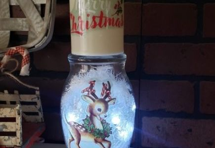 light-up reindeer vase