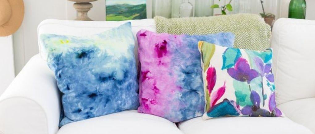 tie dye pillows