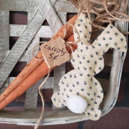 No-sew fabric bunny