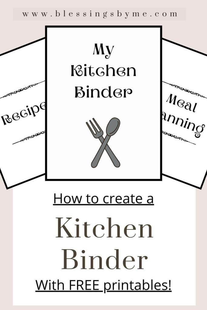 Kitchen Binder with free printables