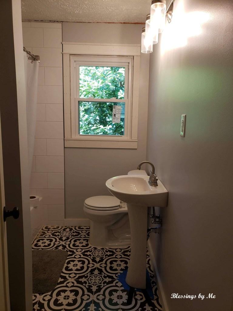 home renovation update - the bathroom