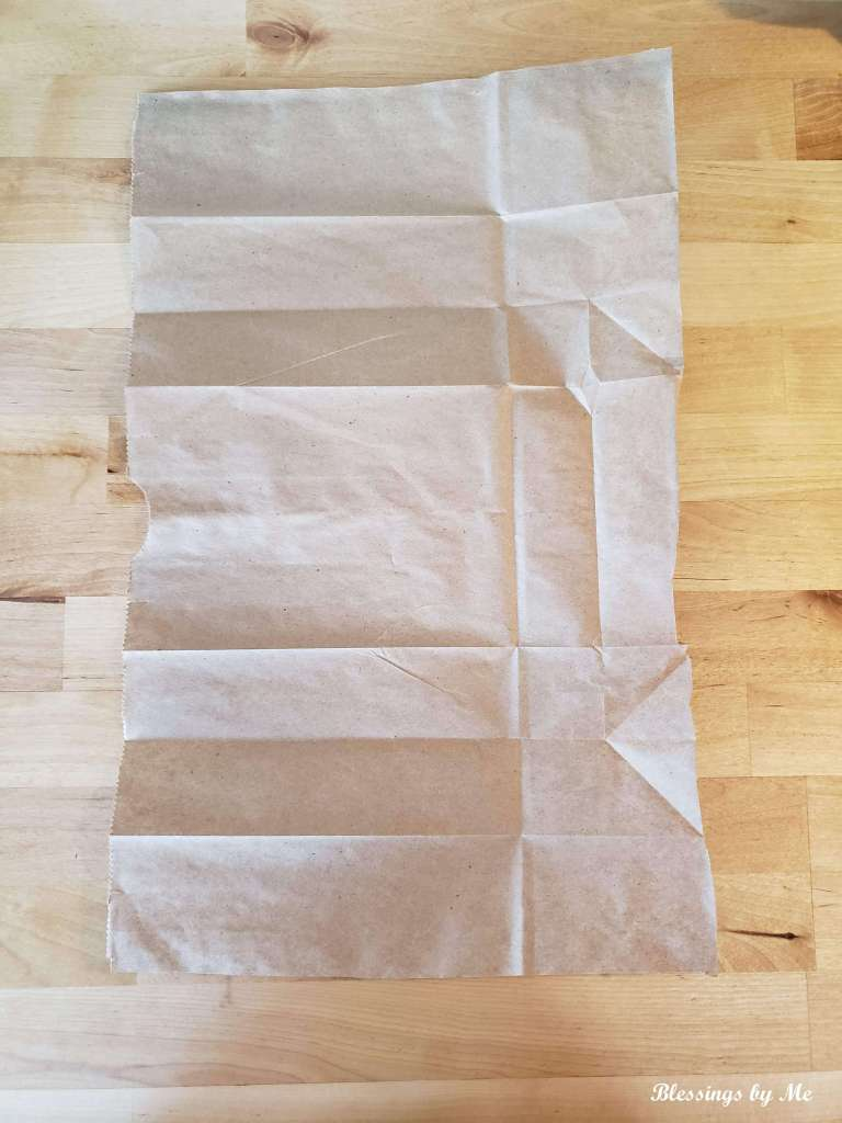 step 1 - lay the bag flat