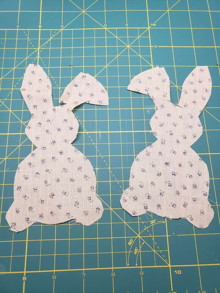 step 2 - cut out the bunny