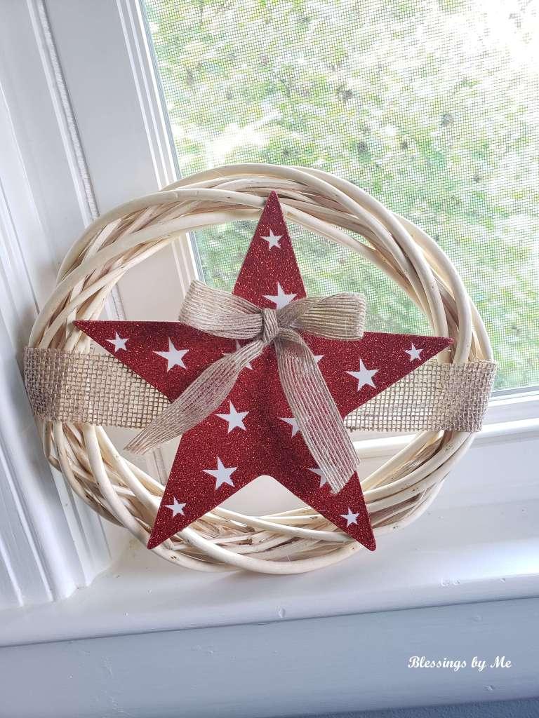 star wreath - Dollar Tree DIY