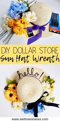 sun hat wreath