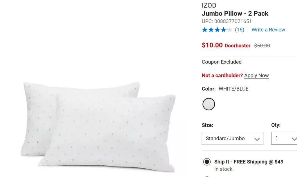 Belk pillows