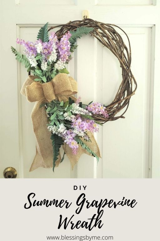 Summer Grapevine Wreath DIY