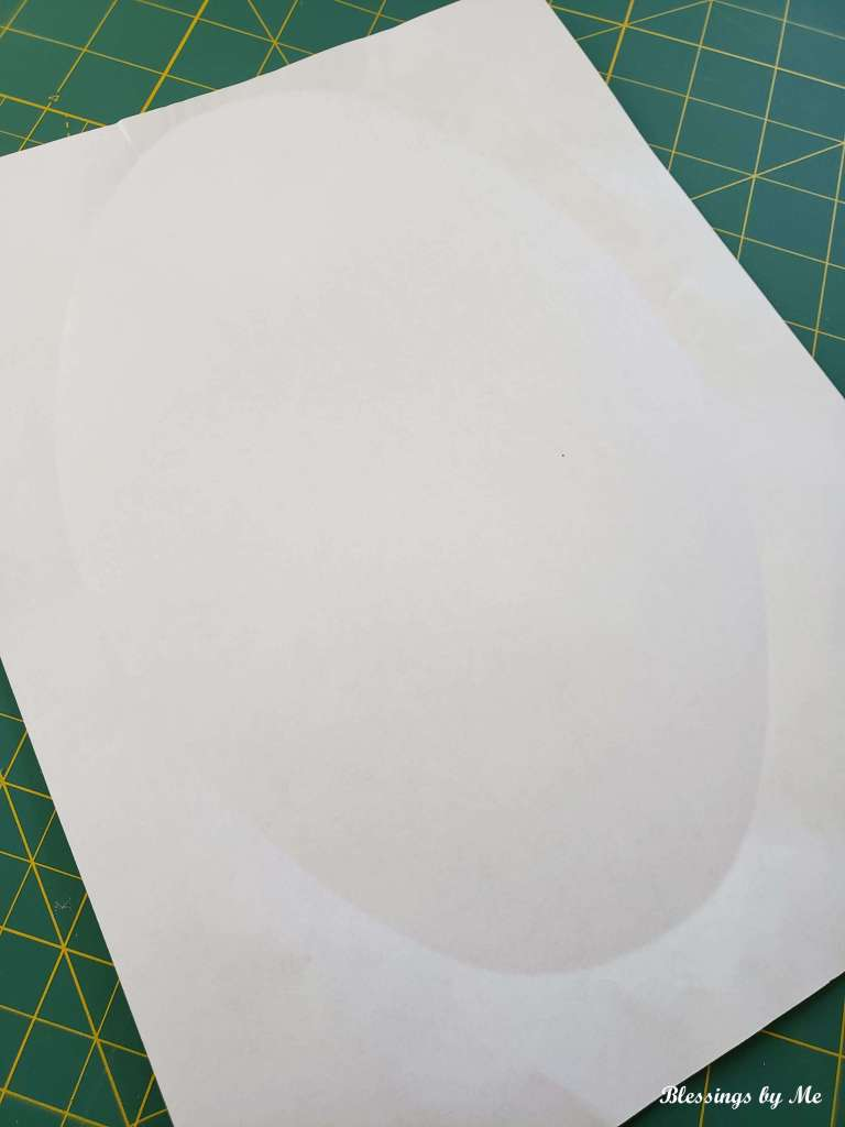 oval tray outline