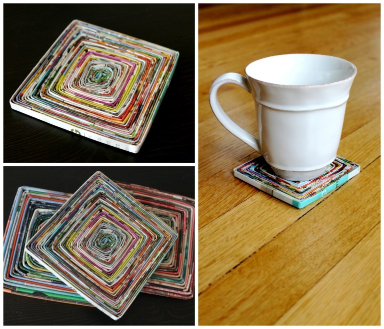 coasters from old magazines