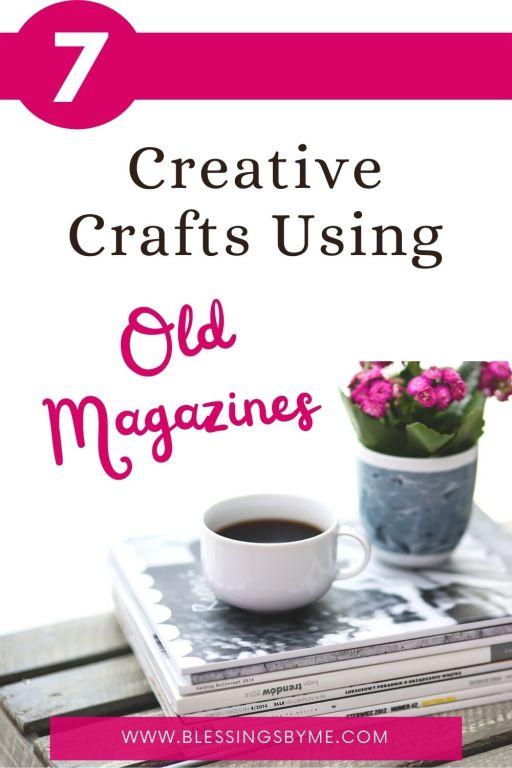 creative craft using old magazines