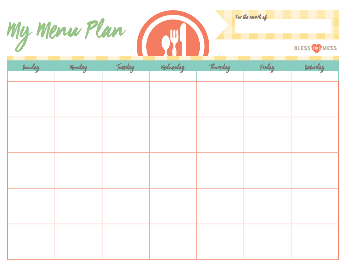 Busy Moms Basic Meal Planning