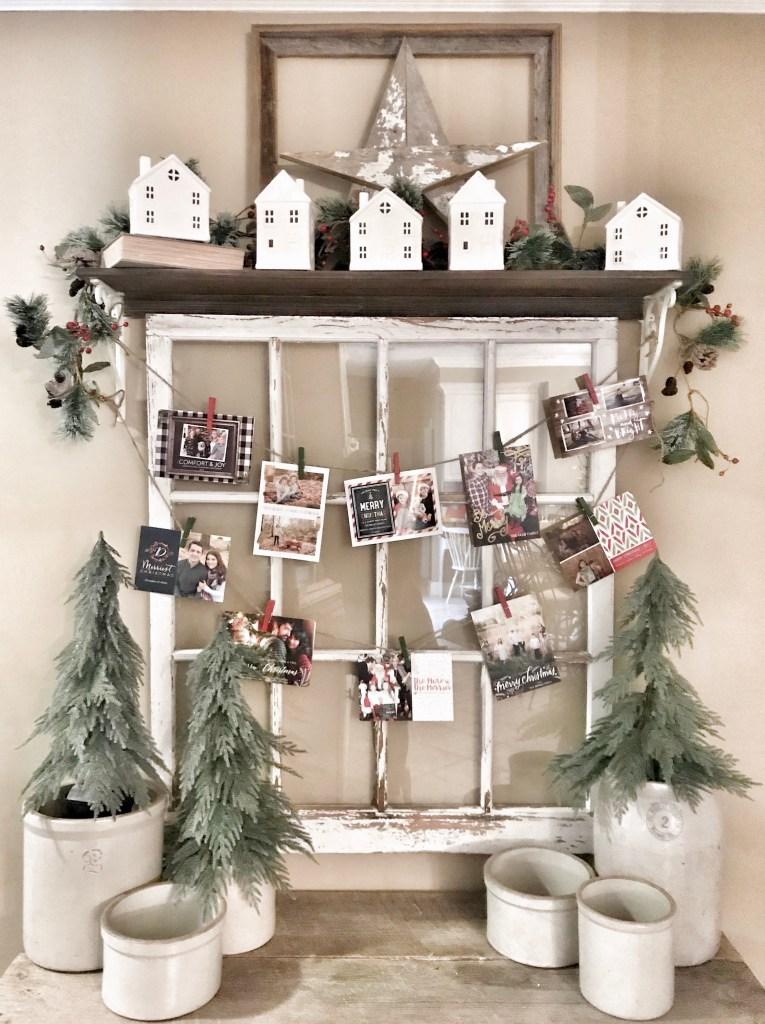 Easy Christmas Card Holder For Under 5 Bless This Nest