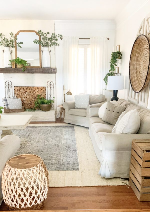Living Room Spring Refresh and Layered Rug Reveal