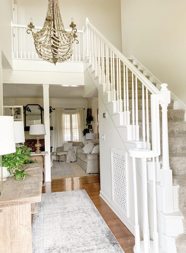 staircase painted white