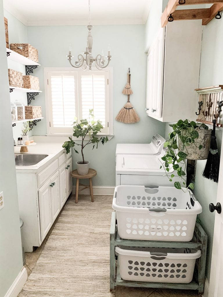 clean and organized laundry room