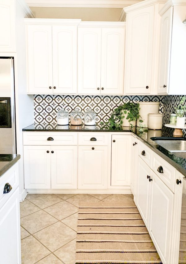 DIY Kitchen Backsplash On a Budget