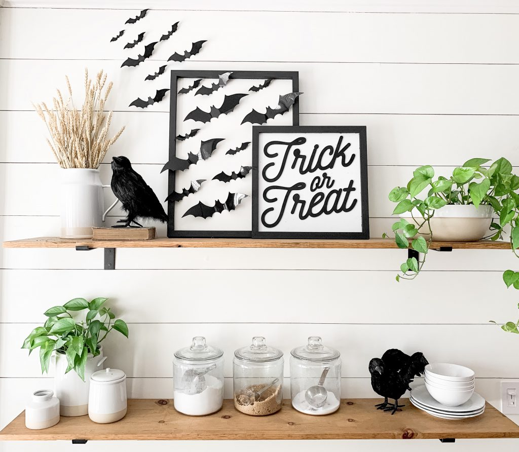 Halloween bat sign