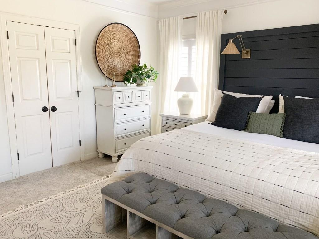 double doors in master bedroom before picture