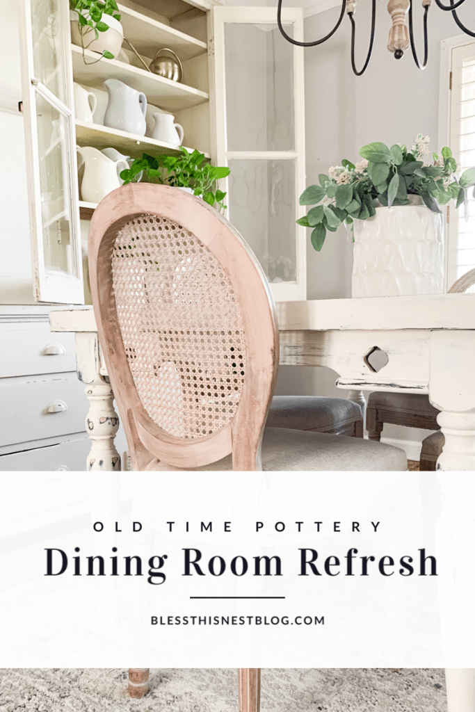 old time pottery dining room refresh blog banner