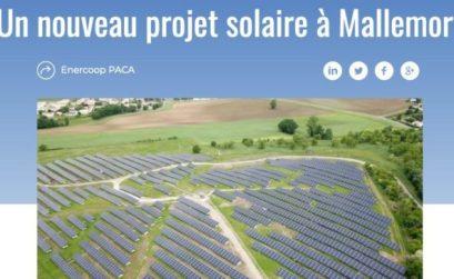 projet solaire Mallemort