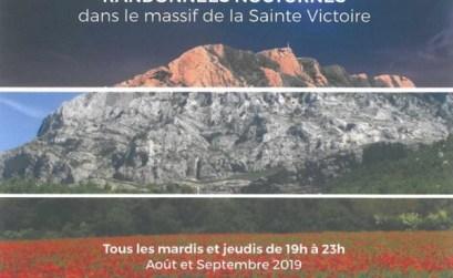 promenades de nuit dans la Sainte-Victoire