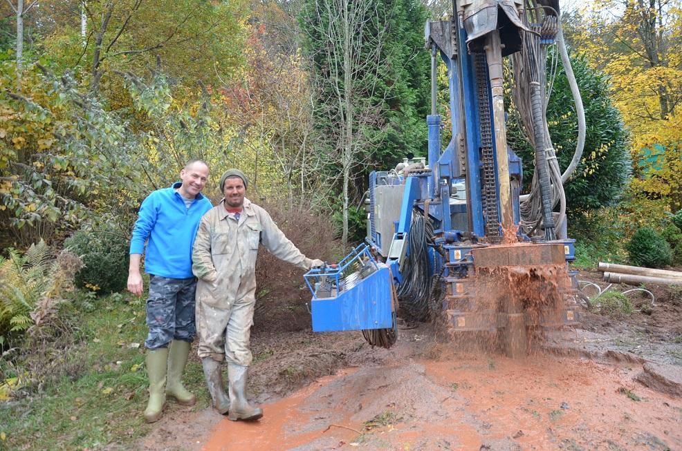 forage réalisé dans les Vosges 88 en Lorraine, avec l'aimable intervention du sourcier professionnel Philippe Wojtowicz