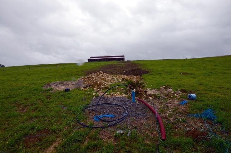 forage réalisé pour le domaine agricole dans le Doubs en Franche-Comté par l'expert sourcier vosgien