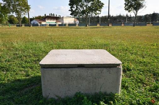 forage pour un terrain de foot