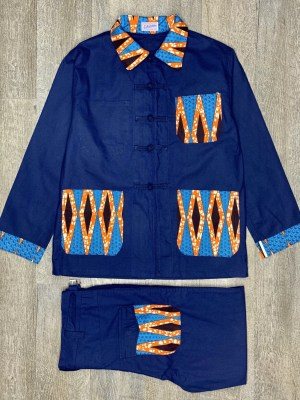 COSTUME BLEU DE CHINE ANTICHER x AFRO WAX MODEL 1