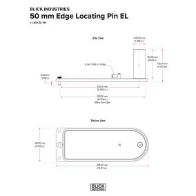 BLICK INDUSTRIES 50 mm Edge Locating Pin EL
