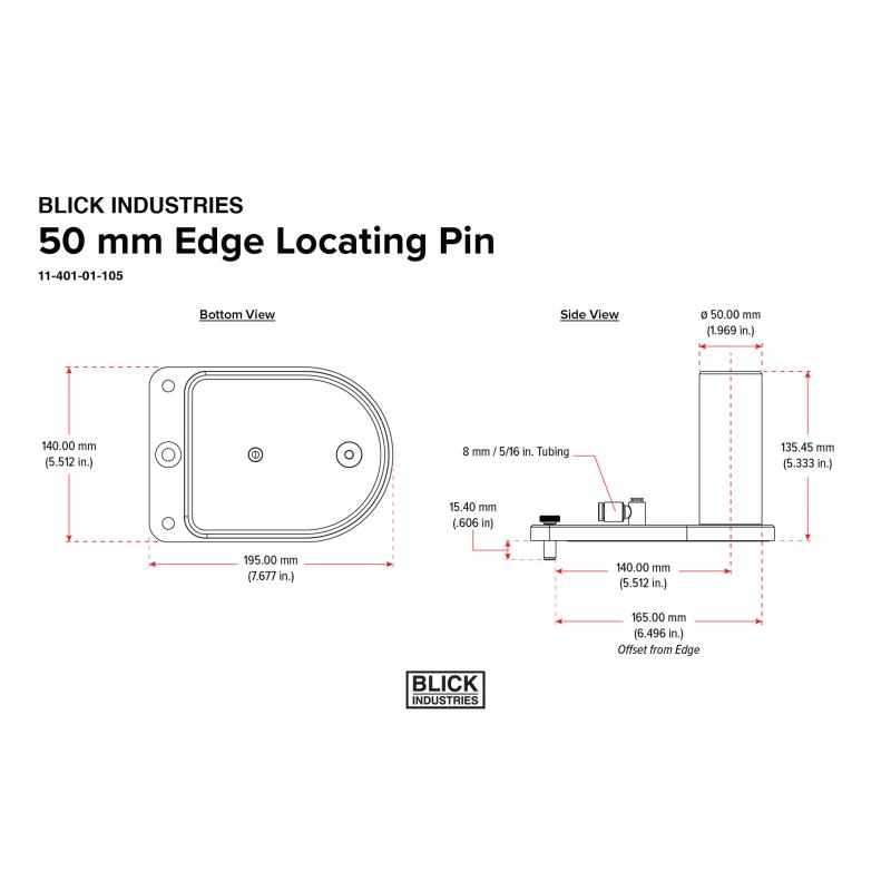 BLICK INDUSTRIES 50 mm Edge Locating Pin